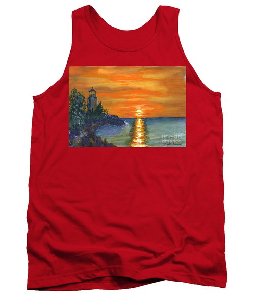 Sunset At The Lighthouse Tank Top