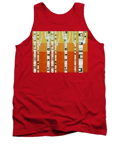 Sunset Birches Tank Top by Michelle Calkins