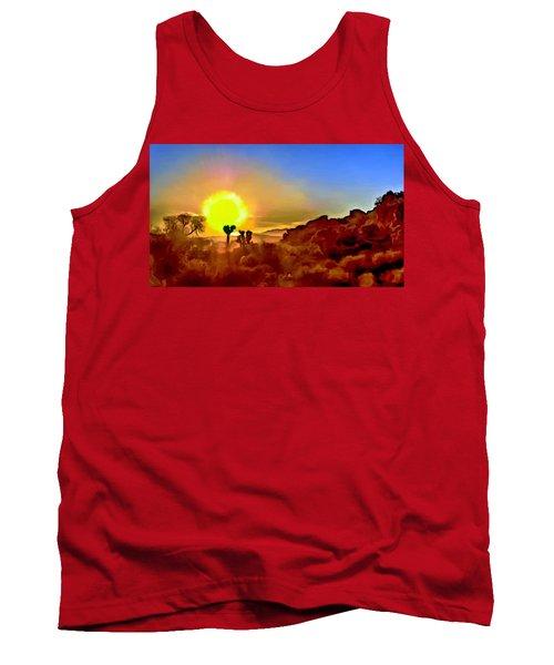 Sunset Joshua Tree National Park V2 Tank Top