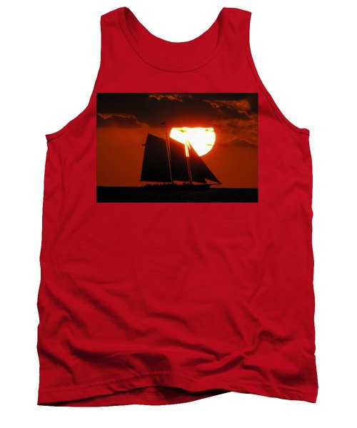 Key West Sunset Sail 5 Tank Top