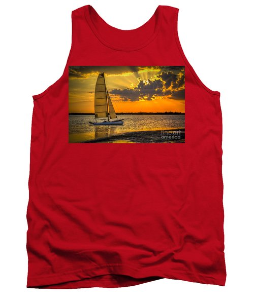 Sunset Sail Tank Top by Marvin Spates