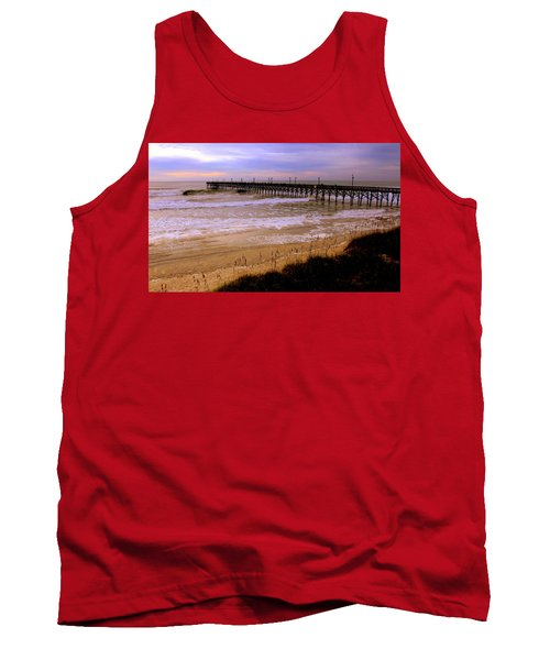 Surf City Pier Tank Top by Karen Wiles