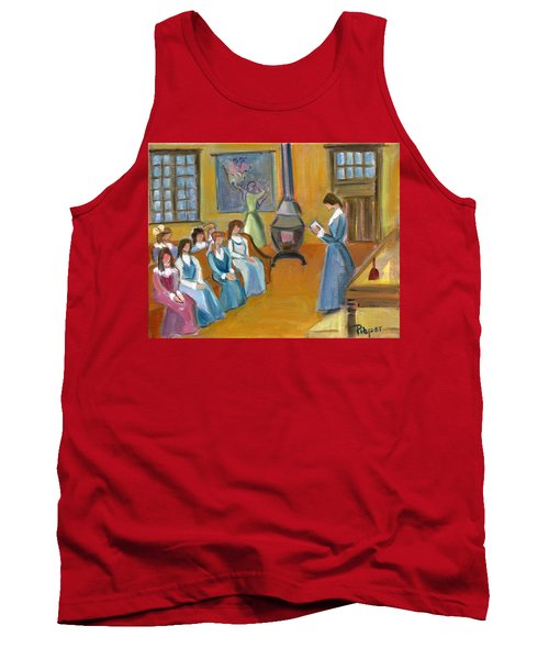 Susan B. Anthony Teaching In Canajoharie Tank Top by Betty Pieper
