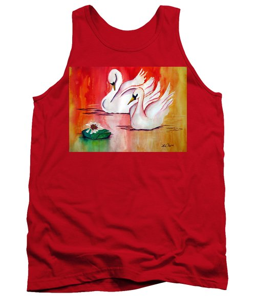 Swans In Love Tank Top