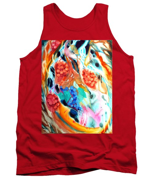 Swirling Grapes Tank Top