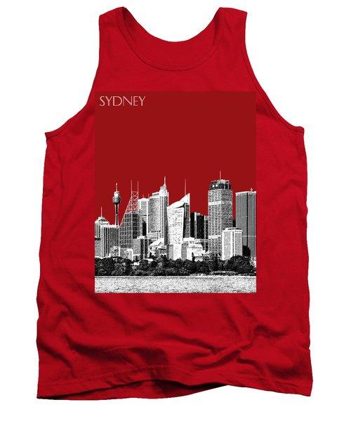 Sydney Skyline 1 - Dark Red Tank Top