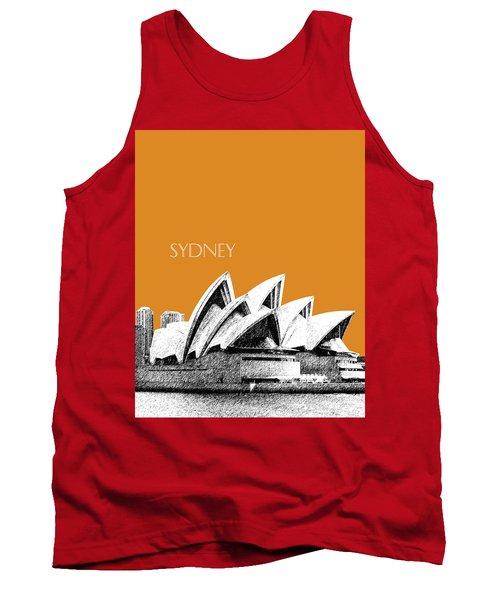 Sydney Skyline 3  Opera House - Dark Orange Tank Top