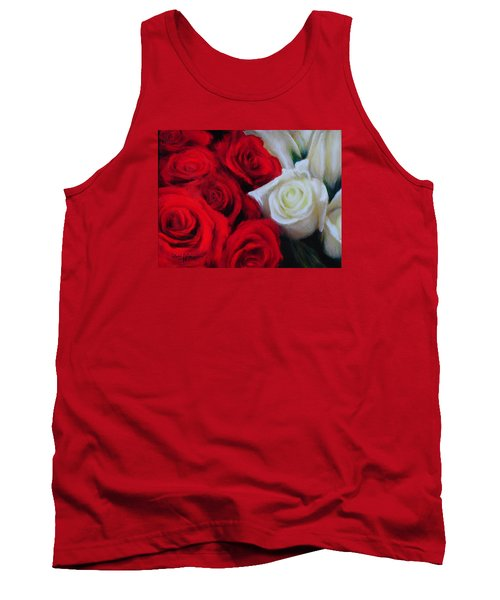 Da143 Symphony In Red And White By Daniel Adams Tank Top
