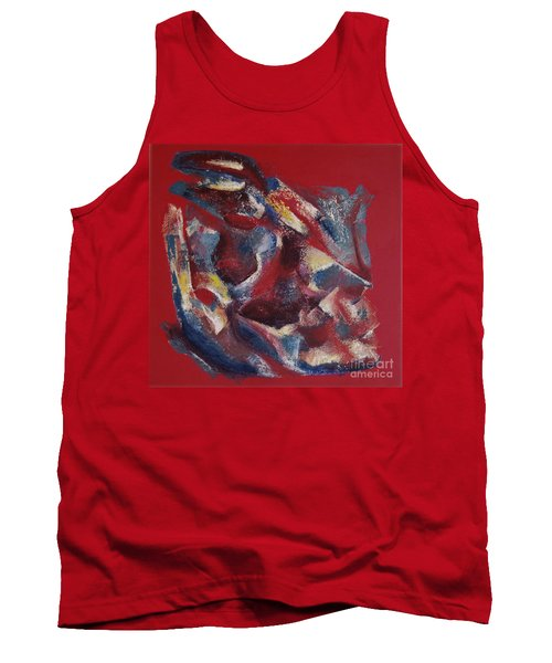 Tank Top featuring the painting Syncopation by Mini Arora