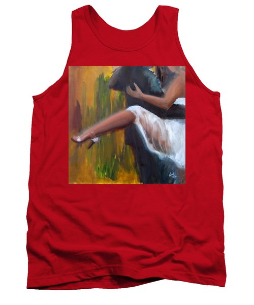 Tank Top featuring the painting Tango On The Piazza by Keith Thue