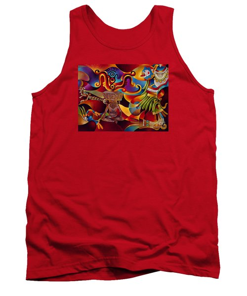 Tapestry Of Gods - Huehueteotl Tank Top