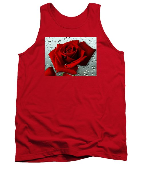 Tank Top featuring the mixed media Tears From My Heart by Morag Bates