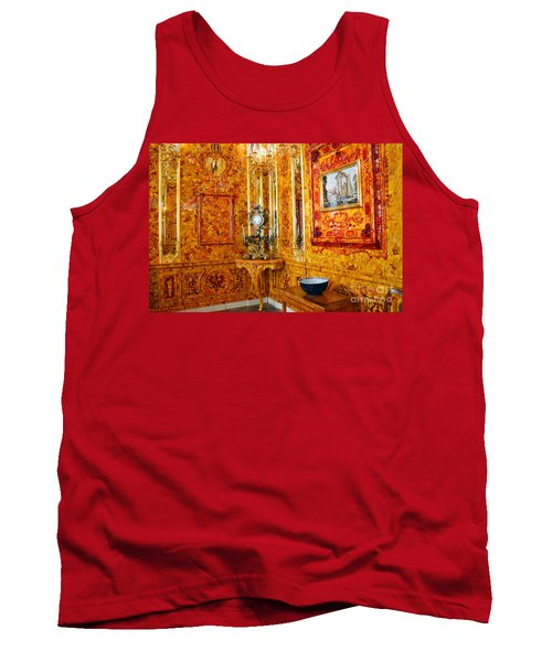 The Amber Room At Catherine Palace Tank Top by Catherine Sherman