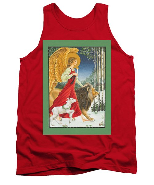The Angel The Lion And The Lamb Tank Top