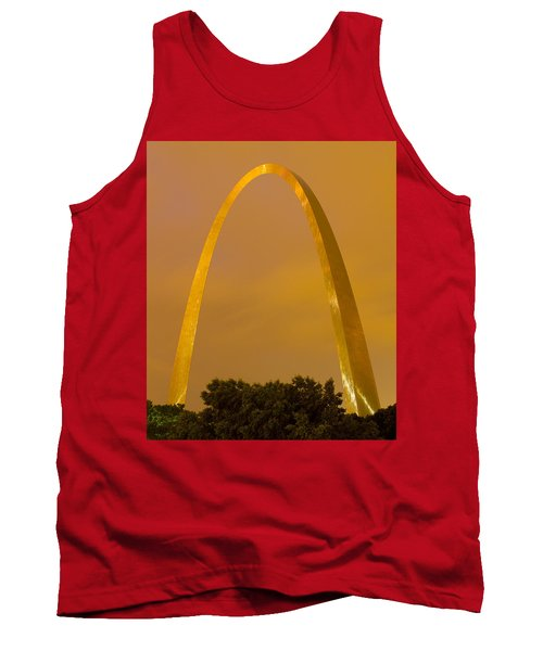 The Arch In The Glow Of St Louis City Lights At Night Tank Top by Garry McMichael