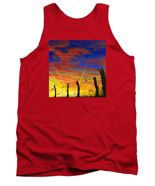 The Birds - Red Sky At Night Tank Top by Jack Malloch