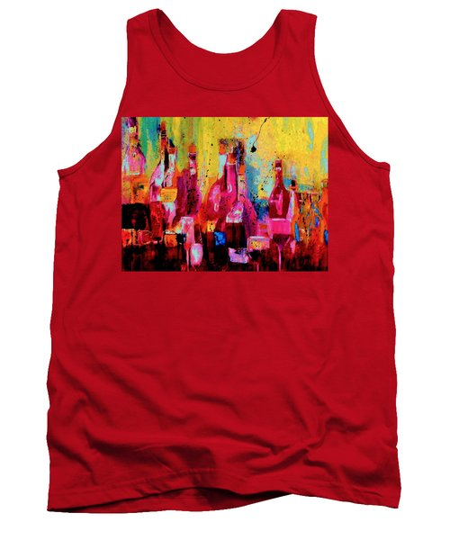 Tank Top featuring the painting The Cabaret by Lisa Kaiser