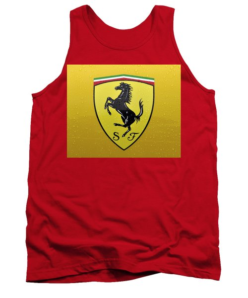 The Cavallino Rampante Symbol Of Ferrari Tank Top