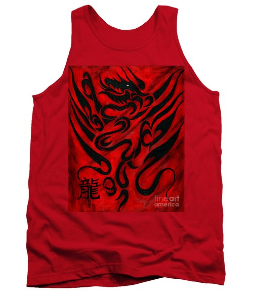 Tank Top featuring the painting The Dragon by Roz Abellera Art