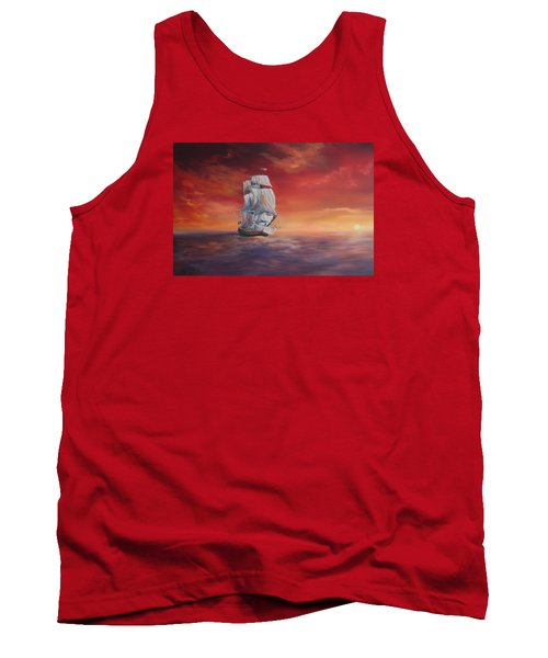 The Endeavour On Calm Seas Tank Top by Jean Walker