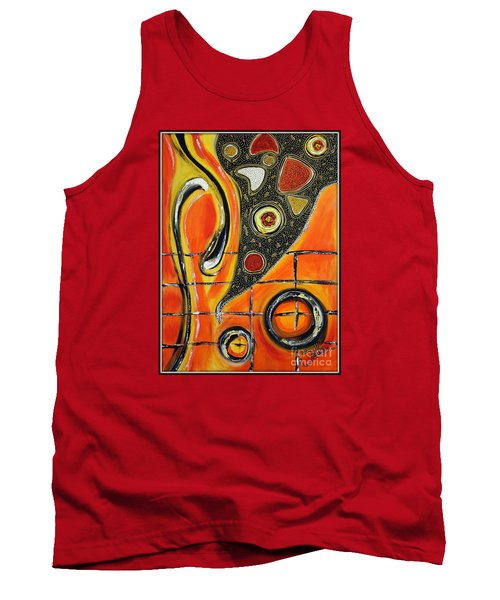 The Fires Of Charged Emotions Tank Top by Jolanta Anna Karolska