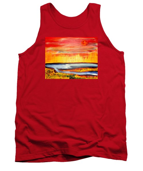 Tank Top featuring the painting The First Handcart Is Faith by Richard W Linford