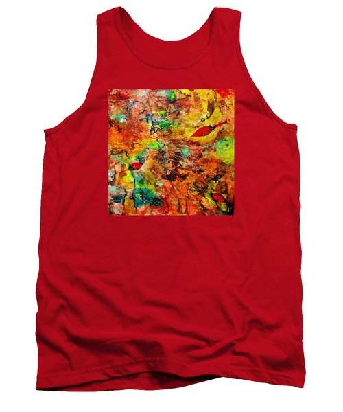 Tank Top featuring the painting The Forest Floor by Carolyn Repka