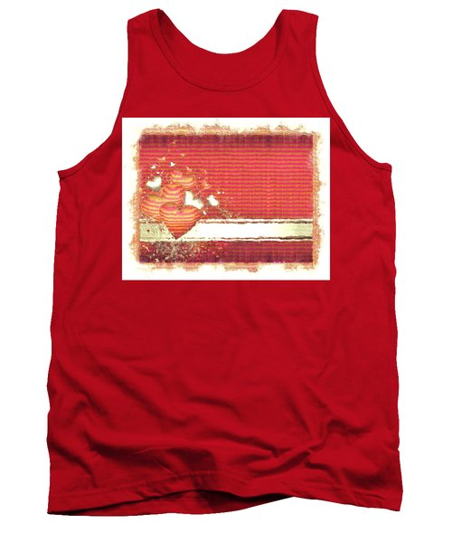Tank Top featuring the digital art The Heart Knows by Liane Wright