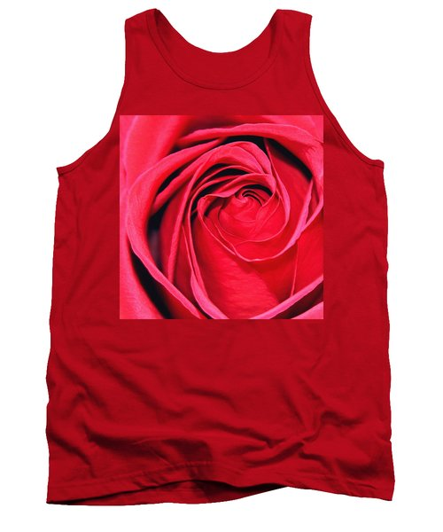 Tank Top featuring the painting The Red Rose Blooming by Karon Melillo DeVega
