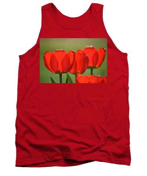 The Red Tulips Tank Top by Eric Liller