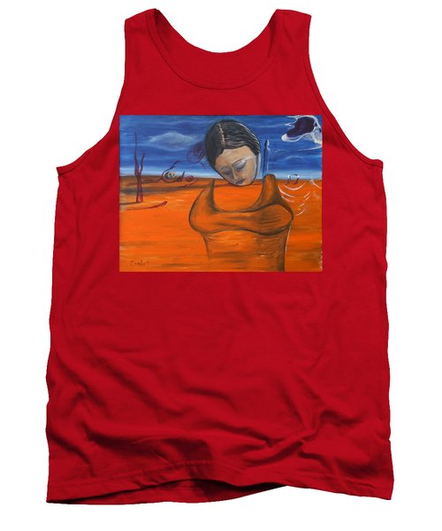 Tank Top featuring the painting The Saharan Insomniac by Christophe Ennis