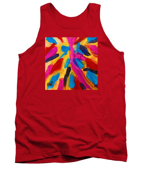 Tank Top featuring the painting The Sandy Road To Gbapi  - Bonthe Sierra Leone by Mudiama Kammoh