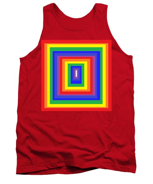 Tank Top featuring the digital art The Sixties by Cletis Stump
