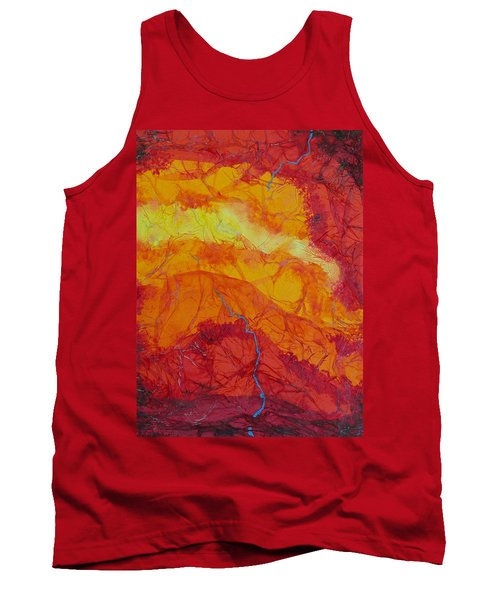 Tank Top featuring the mixed media The Thin Blue Line by Michele Myers
