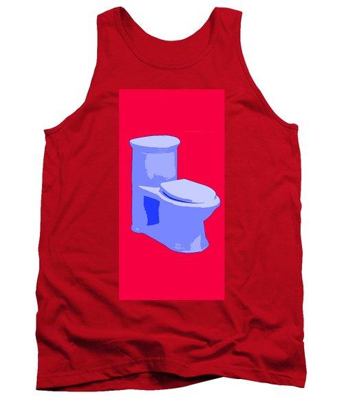 Toilette In Blue Tank Top