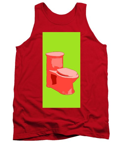 Toilette In Red Tank Top