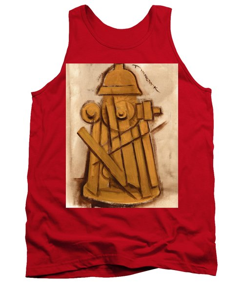 Abstract Fire Hydrant Art Print Tank Top