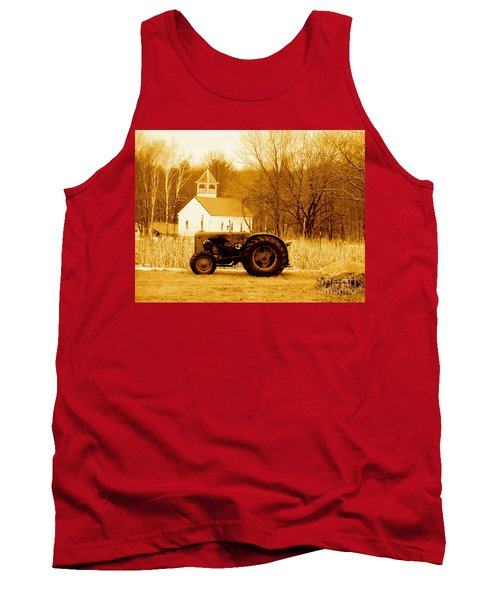 Tractor In The Field Tank Top by Desiree Paquette