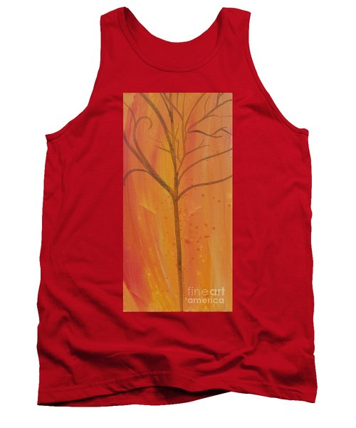 Tank Top featuring the painting Tree Of Three Coral by Robin Maria Pedrero
