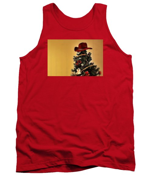 Tank Top featuring the photograph Tree Topper Texas Style by Nadalyn Larsen