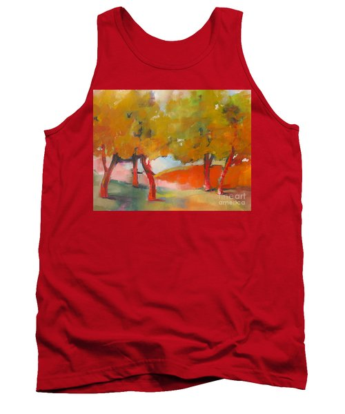 Tank Top featuring the painting Trees #5 by Michelle Abrams