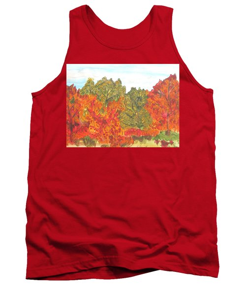 Trees Of Fall Tank Top
