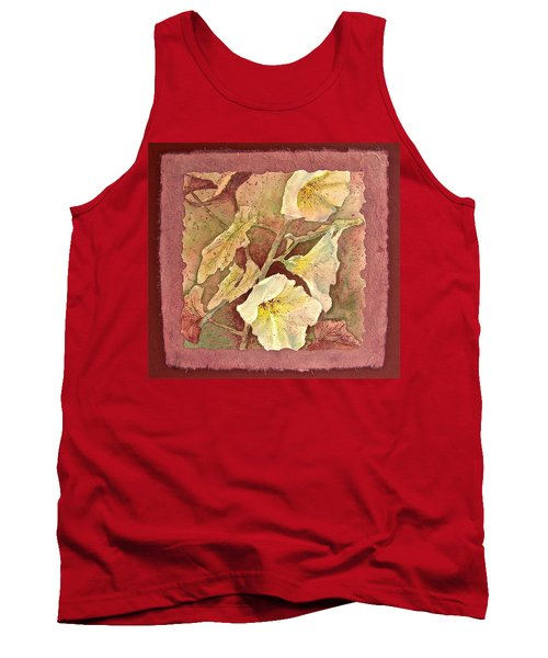 Tank Top featuring the painting Triple White by Carolyn Rosenberger