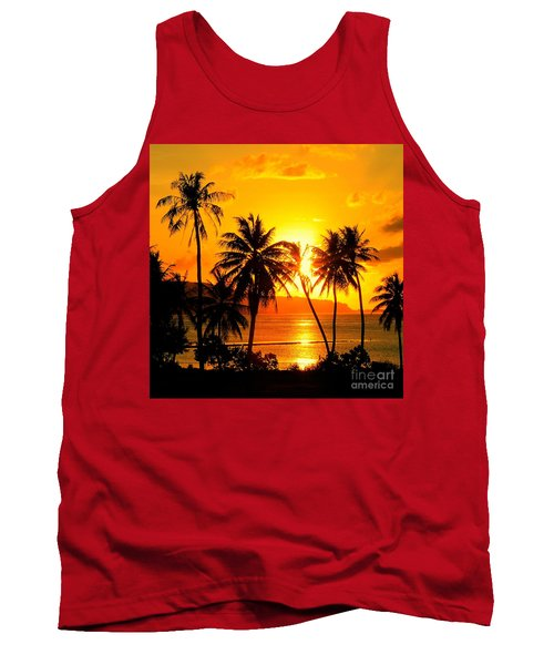 Tropical Sunset Tank Top by Scott Cameron