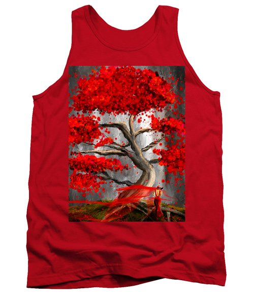 True Love Waits - Red And Gray Art Tank Top