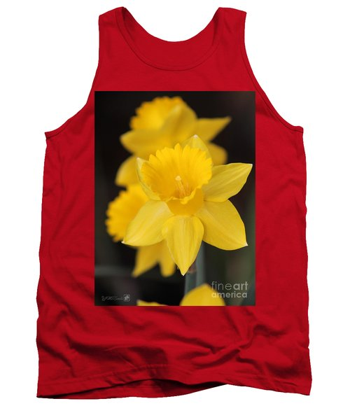 Trumpet Daffodil Named Exception Tank Top by J McCombie