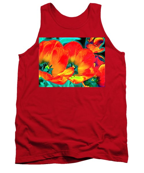 Tank Top featuring the photograph Tulip 1 by Pamela Cooper