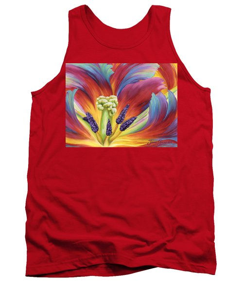 Tulip Color Study Tank Top by Jane Girardot