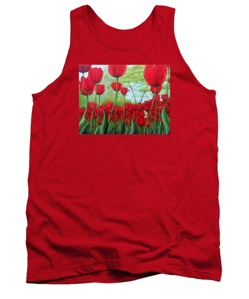 Tulipanes  Tank Top by Angel Ortiz