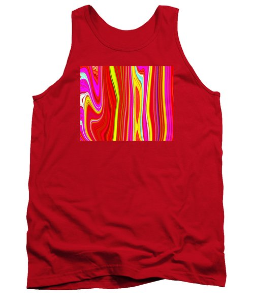 Tank Top featuring the painting Twiggy Stripes C2014 by Paul Ashby